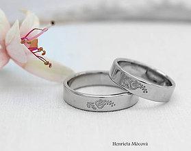 Prstene - Obrúčky s folklórnym ornamentom - Nitra (Strieborná) - 9299628_