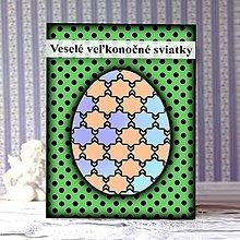Papiernictvo - Geometrické veľkonočné vajíčko puntíky - hviezdičky - 9300240_