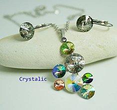Sady šperkov - Súprava so strapcom s Swarovski crystals - 9303494_
