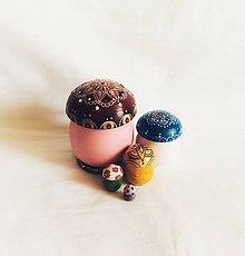 Hračky - Hríbiky z magického lesa č.3 - matriošky - 9304825_