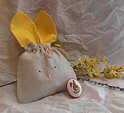 Úžitkový textil - Vrecko zajko - 9304007_