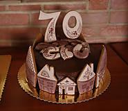 Dekorácie - Medovníky na tortu - sada - 9305086_
