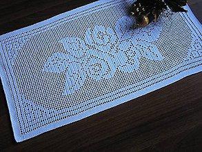 Úžitkový textil - ***Ruže - háčkovaná štóla / prestieranie*** - 9306169_