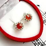 Classic Garnet Earrings & Silver Ag 925 / Strieborné náušnice s granátom hessonitom #0354
