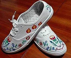 Obuv - Dámske folklórne tenisky s farebným ornamentom - 9303772_