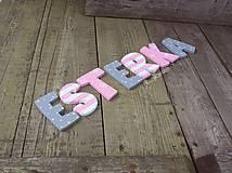 Tabuľky - Esterka ,,,8cm písmenká - 9304951_