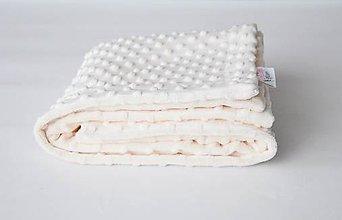 Textil - Minky creamy deka 70*100cm - 9303077_