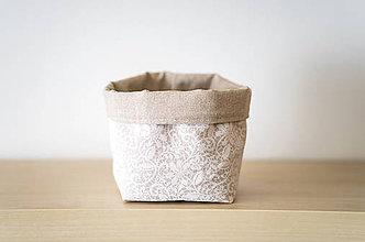 Košíky - bavlnený košík - 9306028_