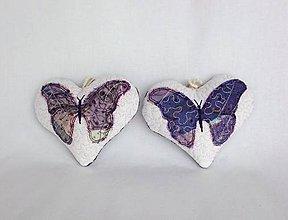 Dekorácie - Tieňový motýľ - závesná dekorácia fialová (11 cm x 10 cm) - 9305181_