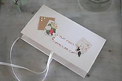 Papiernictvo - Scrapbook obálka na peniaze - prírodná - 9304215_