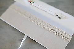 Papiernictvo - Scrapbook obálka na peniaze - prírodná - 9304216_