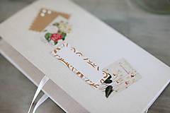 Papiernictvo - Scrapbook obálka na peniaze - prírodná - 9304217_