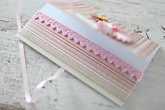 Papiernictvo - Scrapbook obálka na peniaze - ružová - 9304236_