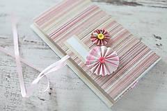 Papiernictvo - Scrapbook obálka na peniaze - ružová - 9304237_