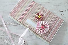 Papiernictvo - Scrapbook obálka na peniaze - ružová - 9304238_