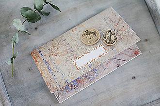 Papiernictvo - Scrapbook obálka na peniaze / pre cestovateľa - 9304245_
