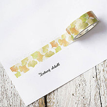 Papier - Washi pásky Kvety a listy 1,5 cm x 7 m (Washi páska Ginko v jeseni) - 9305228_