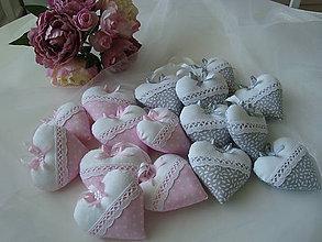 Darčeky pre svadobčanov - Svadobné srdiečka na želanie - 9304853_
