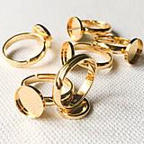 Komponenty - 24 k žltým zlatom pozlátený strieborný Ag 925 univerzálny prsteň, 10 mm - 9306476_
