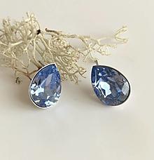 Náušnice - Modré svadobné Náušnice - 9304472_
