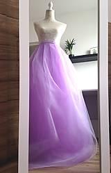 Sukne - Tylová sukňa dlhá fialková - 9304425_