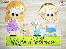 Tabuľky - Menovka - rodinka - 9306121_