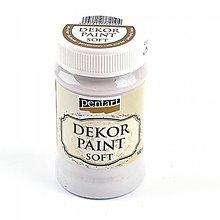 Farby-laky - Dekor Paint Soft- 100 ml -krémovo biela - 9303144_