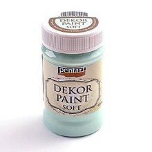 Farby-laky - Dekor Paint Soft 100 ml-mätovo zelená - 9303162_