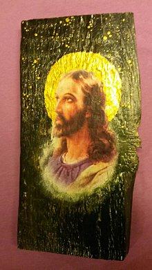 Obrazy - Drevený obrázok - Ježiš - 9305661_