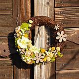 Dekorácie - Venček zo sušených kvetov - 9302939_