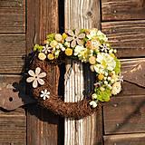 Dekorácie - Venček zo sušených kvetov - 9302940_