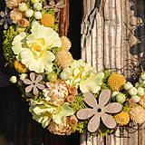 Dekorácie - Venček zo sušených kvetov - 9302941_
