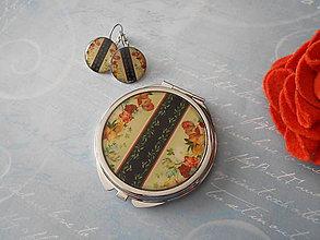 Zrkadielka - V štýle art deco II. (zrkadielko + náušničky) - 9305915_