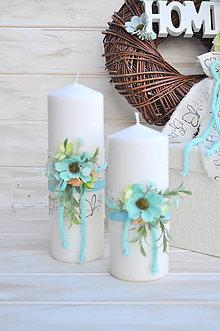 Svietidlá a sviečky - sada dvoch dekoračných sviečok - 9306805_