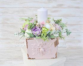Dekorácie - dekoračný šuflík so sviečkou,väčší - 9306831_