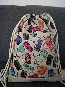 Veľké tašky - Batoh z hrubej bavlny - 9306650_
