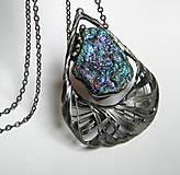 - Cínový šperk s minerálom - Nevšedný... - 9304771_