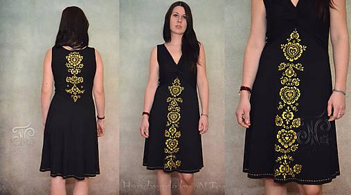 55a4739578 Elegantný folklór - ručne maľované dámske šaty ( iba tento kus ...