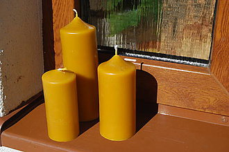 Svietidlá a sviečky - Sviečka valec (11 x 5 cm) - 9304520_