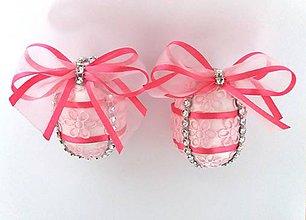 Dekorácie - Dekoračné vajíčka ružové - zľava - 9305416_