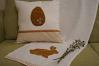 """Úžitkový textil - Zajko """"na prírodno"""" (obliečka a behúň) - 9306835_"""