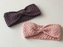 Detské čiapky - Čelenka Blueberry / Headband Blueberry - 9305304_