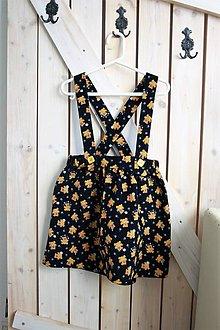Detské oblečenie - Veselá sukňa s trakmi - 9306275_