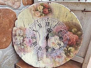 Hodiny - Ružičkové hodiny - 9306003_