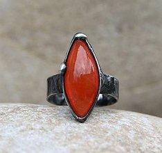 Prstene - Karneol prsteň - 9304948_