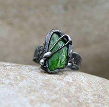 Prstene - Chromdiopsid prsteň - 9305561_