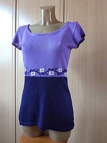 Tričká - Bambusové tričko - fialové - 9304712_