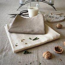 Úžitkový textil - Ľanová utierka (Modrá) - 9306297_