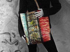 Veľké tašky - Originál malovaná taška květy - Sleva z 60,- € - 9304325_