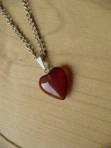Náhrdelníky - prívesok srdce z Karneolu-Baran, Panna, Ryby - 9304338_